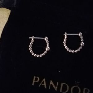 Nwt..PANDORA bubble earrings.  S925ale